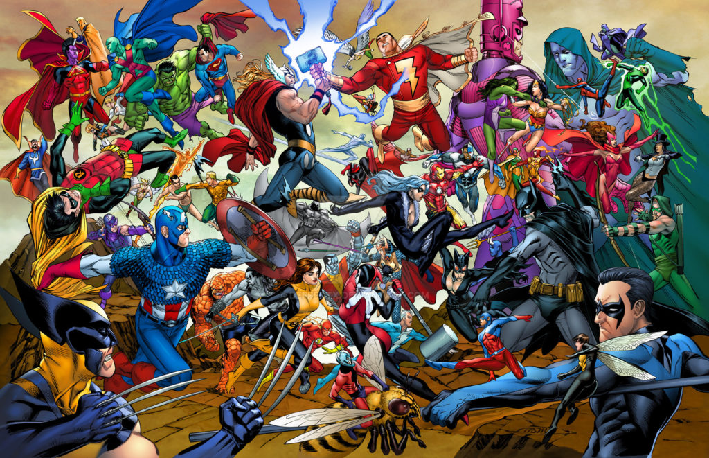 DC and Marvel Comic Costumes Superheroes